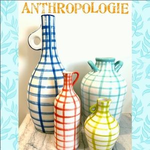 EUC set of 4 Anthropologie hand painted vases
